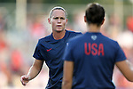 20 August 2014: Christie Rampone (USA). The United States Women's National Team played the Switzerland Women's National Team at WakeMed Stadium in Cary, North Carolina in an women's international friendly soccer game. The United States won the match 4-1.