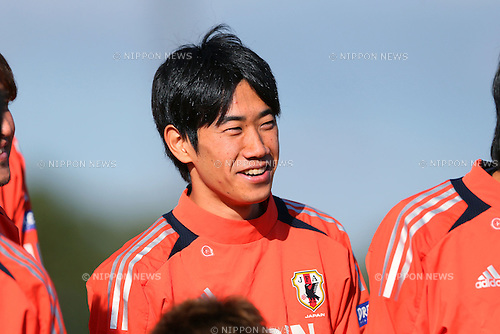 Shinji Kagawa (JPN), .OCTOBER 14, 2012 - Football /Soccer : .Japan national team training .at Akademia Wychowania Fizycznego We Wroclawiu, .Wroclaw, Poland. .(Photo by YUTAKA/AFLO SPORT) [1040]