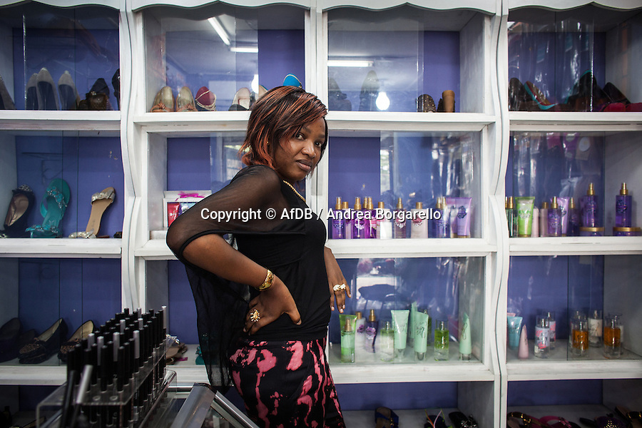 Jacqueline, beauty salon and shop , is an Access Bank Tanzania Micro Credit Client.