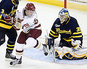 Paul Carey (BC - 22), Joe Cannata (Merrimack - 35) - The Boston College Eagles defeated the visiting Merrimack College Warriors 3-2 on Friday, October 29, 2010, at Conte Forum in Chestnut Hill, Massachusetts.