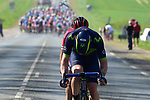 Jasha Sutterlin (GER) Movistar Team and Cyril Lemoine (FRA) Cofidis hold a 10&quot; advantage at 26km during the 115th edition of the Paris-Roubaix 2017 race running 257km Compiegne to Roubaix, France. 9th April 2017.<br /> Picture: ASO/P.Ballet | Cyclefile<br /> <br /> <br /> All photos usage must carry mandatory copyright credit (&copy; Cyclefile | ASO/P.Ballet)