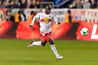 Bradley Wright-Phillips (99) of the New York Red Bulls. The New York Red Bulls defeated the Chicago Fire 5-2 during a Major League Soccer (MLS) match at Red Bull Arena in Harrison, NJ, on October 27, 2013.