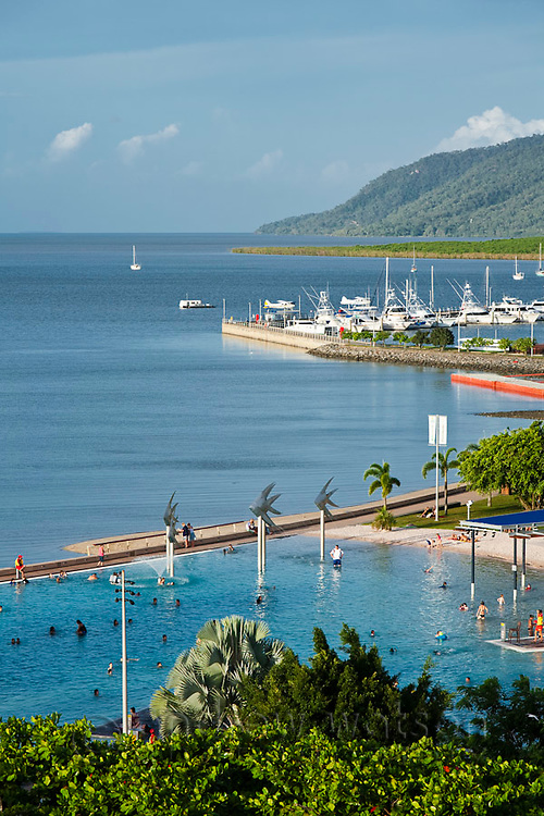 The Esplanade Lagoon.  Cairns, Queensland, AUSTRALIA