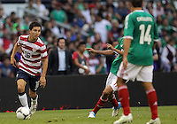 MEXICO CITY, MEXICO - AUGUST 15, 2012:  Jose Francisco Torres (16) of the USA MNT against  Mexico during an international friendly match at Azteca Stadium, in Mexico City, Mexico on August 15. USA won 1-0.