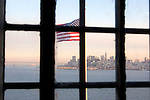 San Francisco seen from the inside of the former Alcatraz penitentiary.