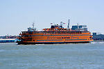 New York City, New York: Staten Island ferry approaching lower Manhattan.  .Photo #: ny227-14674  .Photo copyright Lee Foster, www.fostertravel.com, lee@fostertravel.com, 510-549-2202.
