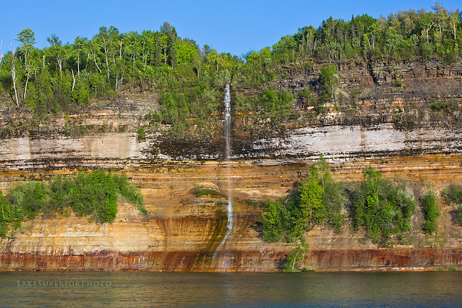Jasper Falls, Pictured Rocks, Spring