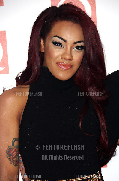 Karis Anderson of Stooshe arriving for The Q Awards 2012 held at the Grosvenor Hotel, London. 22/10/2012 Picture by: Henry Harris / Featureflash