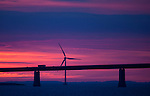 Windmill at Oresund Bridge, between Sweden and Denmark