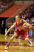 12 February 2012:  Catie O'Leary during an NCAA women's basketball game Where the Bradley Braves lost to the Illinois Sate Redbirds 82-63.  It was Play 4Kay day in honor of the cancer research fund set up by Coach Kay Yow at Redbird Arena in Normal IL