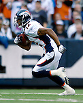 9 September 2007: Denver Broncos wide receiver Domenik Hixon (12) in action against the Buffalo Bills at Ralph Wilson Stadium in Buffalo, NY. The Broncos defeated the Bills 15-14 in the opening day matchup...Mandatory Photo Credit: Ed Wolfstein Photo