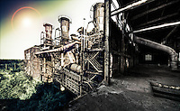 Sinteranlange - Disused steel mill in Duisberg, Germany.
