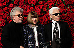 UNITED STATES, NEW YORK,  November 15, 2011..Director Pedro Almodovar, Anna Wintour and designer Karl Lagerfeld attend the 4th Annual Film benefit 'A Tribute to Pedro Almodovar' at the Museum of Modern Art  in New York November 15, 2011. VIEWpress /Kena Betancur..