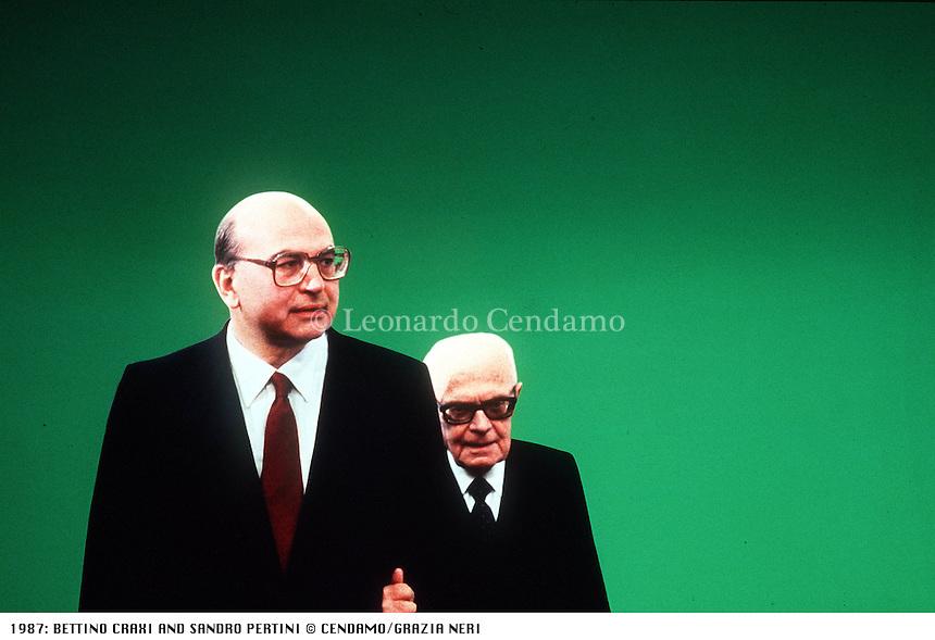 1987: BETTINO CRAXI AND SANDRO PERTINI © Leonardo Cendamo