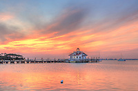 Wonderful sunrise sky along the   Manteo waterfront at Shallow Bag Bay.