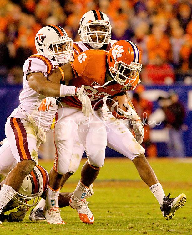2011 ACC Championship Game  - Virginia Tech vs. Clemson at Bank of America Stadium in Charlotte, North Carolina...Photo by: Patrick SchneiderPhoto.com