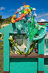 Colorful cemetery near San Nicolas, Western Highlands, Guatemala