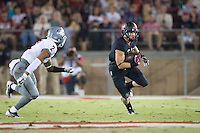 STANFORD, CA - October 8, 2016: Christian McCaffrey at Stanford Stadium. The Washington State Cougars defeated the Cardinal 42-16.