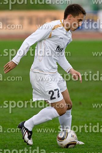 Goran Cvijanovic of Gorica at 29th Round of 1st Slovenian football league match between NK Olimpija Ljubljana and HIT Gorica, on April 3, 2010, in ZAK stadium, Ljubljana, Slovenia. Olimpija defeated HIT Gorica 5-0.  (Photo by Vid Ponikvar / Sportida)