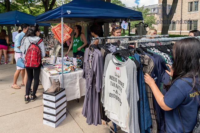 August 21, 2016; Welcome Weekend Farmers Market (Photo by Matt Cashore/University of Notre Dame)