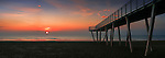A glorious sunrise over the calm waters of the Adriatic Sea. Taken on a mild morning of January from the beach of the Lido in Venice, Italy, this is stitched from eight vertical frames.