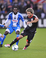 Nick DeLeon (18) of D.C. United.  The Philadelphia Union tied D.C. United 1-1, at RFK Stadium, Saturday October 12 , 2013.