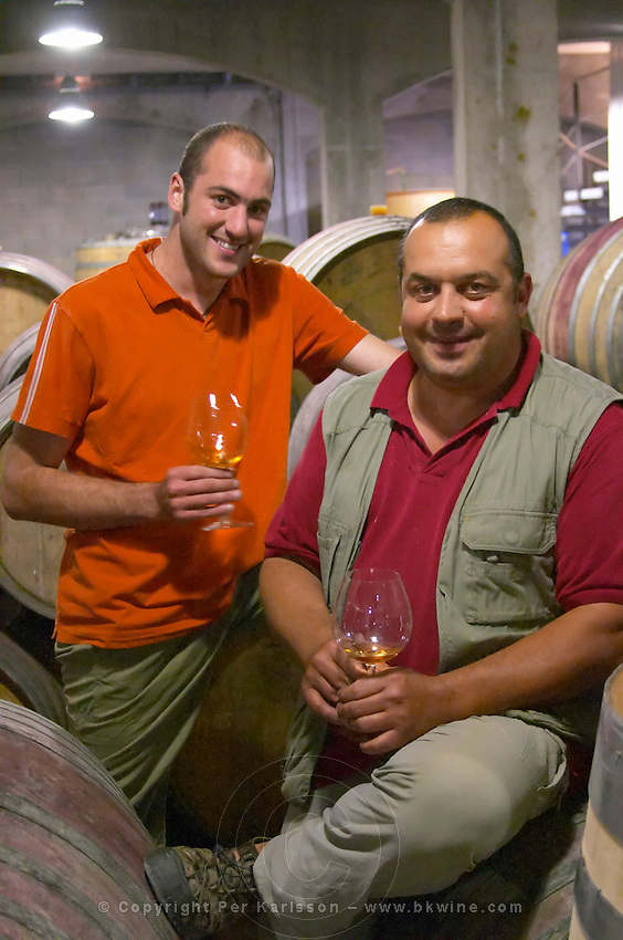 Lionel and Gerard Gauby, son and father. Domaine Gauby, Calces, roussillon, France