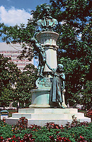 """New Orleans:  McDonogh  Monument, Lafayette Square, 2nd oldest park in New Orleans.  John McDonogh  left a public endowment upon his death to create public schools for the """"education of the poor of all castes and races. """""""