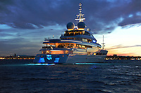Pegaso returns to harbour after a successful day of sea trials