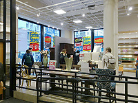A Pier 1 Imports store on lower Fifth Avenue in New York on Saturday, March 25, 2017 is festooned with signs informing shoppers of the discounts inside due to the closing of the store. Pier 1 Imports announced previously that it will be closing up to 100 stores over a three-year period.  (© Richard B. Levine)