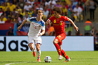 Axel Witsel of Belgium and Aleksandr Kokorin of Russia