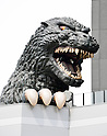 Godzilla's head on top of newly opened hotel in Tokyo
