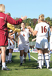 Florida State's Sel Kuralay (6) is introduced before the game on Wednesday, November 2nd, 2005 at SAS Stadium in Cary, North Carolina. The Florida State University Seminoles defeated the Clemson University Tigers 4-0 during their Atlantic Coast Conference Tournament Quarterfinal game.