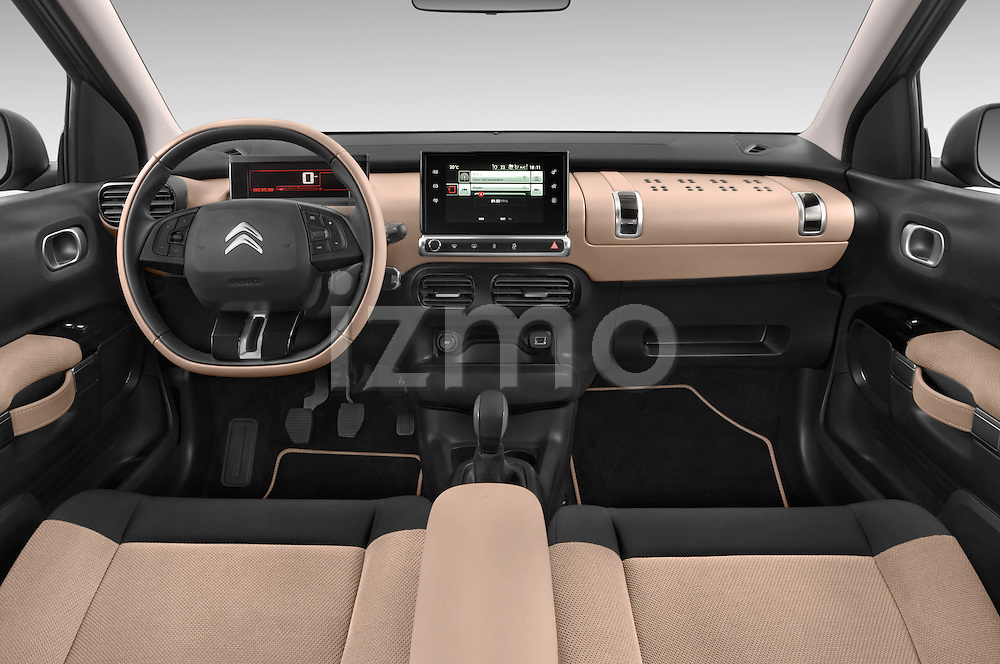2014 citroen c4 cactus shine edition midnight 5 door mini van 2wd dashboard stockphoto izmostock. Black Bedroom Furniture Sets. Home Design Ideas