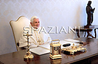 Pope Benedict XVI meeting: President of the Czech Republic , at the Vatican, May 30, 2009.