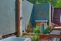 Outdoor, Shower, Bath, Wood Flooring, Bathroom, Open Air, Malibu, California