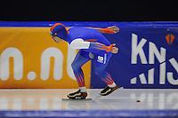 SCHAATSEN: HEERENVEEN: 25-10-2014, IJsstadion Thialf, Trainingswedstrijd schaatsen, Bob de Jong, ©foto Martin de Jong