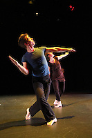 "Karin Stevens Dance performing ""Gigue"" with the Starry Night Chamber Orchestra at The Black Box Theatre at Edmonds Community College."