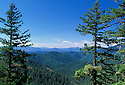 Siskiyou Mountains and National Forest view from Cliff Nature Trail, Oregon Caves National Monument, southwestern Oregon.