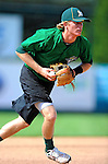 2 July 2011: Vermont Lake Monsters' third baseman Jacob Tanis warms up prior to a game against the Tri-City ValleyCats at Centennial Field in Burlington, Vermont. The Lake Monsters rallied from a 4-2 deficit to defeat the ValletCats 7-4 in NY Penn League action. Mandatory Credit: Ed Wolfstein Photo