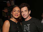 Barrett Doss and Andy Karl during the Actors' Equity Opening Night Gypsy Robe Ceremony honoring Joseph Medeiros for 'Groundhog Day' at the August Wilson Theatre on April 17, 2017 in New York City