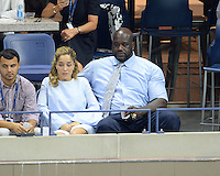 FLUSHING NY- SEPTEMBER 06: Shaquille O'Neal is seen watching Novak Djokovic Vs Jo Wilfred Tsonga on Arthur Ashe Stadium at the USTA Billie Jean King National Tennis Center on September 6, 2016 in Flushing Queens. Credit: mpi04/MediaPunch