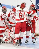 - The Boston University Terriers defeated the visiting University of Windsor Lancers 4-1 in a Saturday afternoon, September 25, 2010, exhibition game at Walter Brown Arena in Boston, MA.