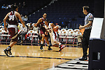 "Ole Miss' Diara Moore (10) vs. UMass' Jasmine Watson (32) at the C.M. ""Tad"" Smith Coliseum in Oxford, Miss. on Saturday, December 8, 2012."