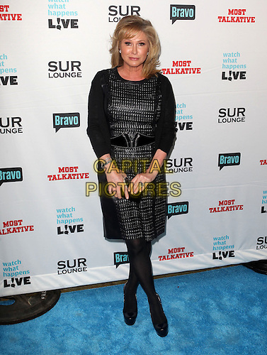"Kathy Hilton.Bravo's Andy Cohen's Book Release Party For ""Most Talkative: Stories From The Front Lines Of Pop Held at SUR Lounge, West Hollywood, California, USA..May 14th, 2012.full length black  dress leather .CAP/ADM/KB.©Kevan Brooks/AdMedia/Capital Pictures."