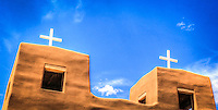 Nambe Church and Cloud - New Mexico