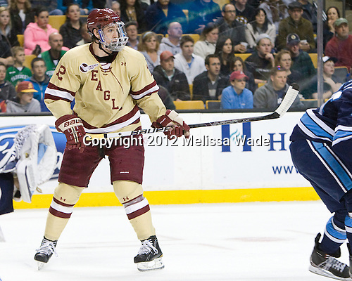 Kevin Hayes (BC - 12) - The Boston College Eagles defeated the University of Maine Black Bears 4-1 to win the 2012 Hockey East championship on Saturday, March 17, 2012, at TD Garden in Boston, Massachusetts.