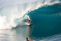 TEAHUPOO, Tahiti.  Michel Bourez (PYF) surfing Teahupoo, Tahiti. Photo: joliphotos