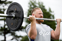 Ross Batty of Bath Rugby in action during a Bath Rugby photoshoot on June 21, 2016 at Farleigh House in Bath, England. Photo by: Rogan Thomson for Onside Images