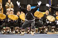 Utuqqagmiut Inupiaq (Eskimo) dancers from the village of Wainwright dance at the 2008 World Eskimo Indian Olympics held annually in Fairbanks, Alaska.